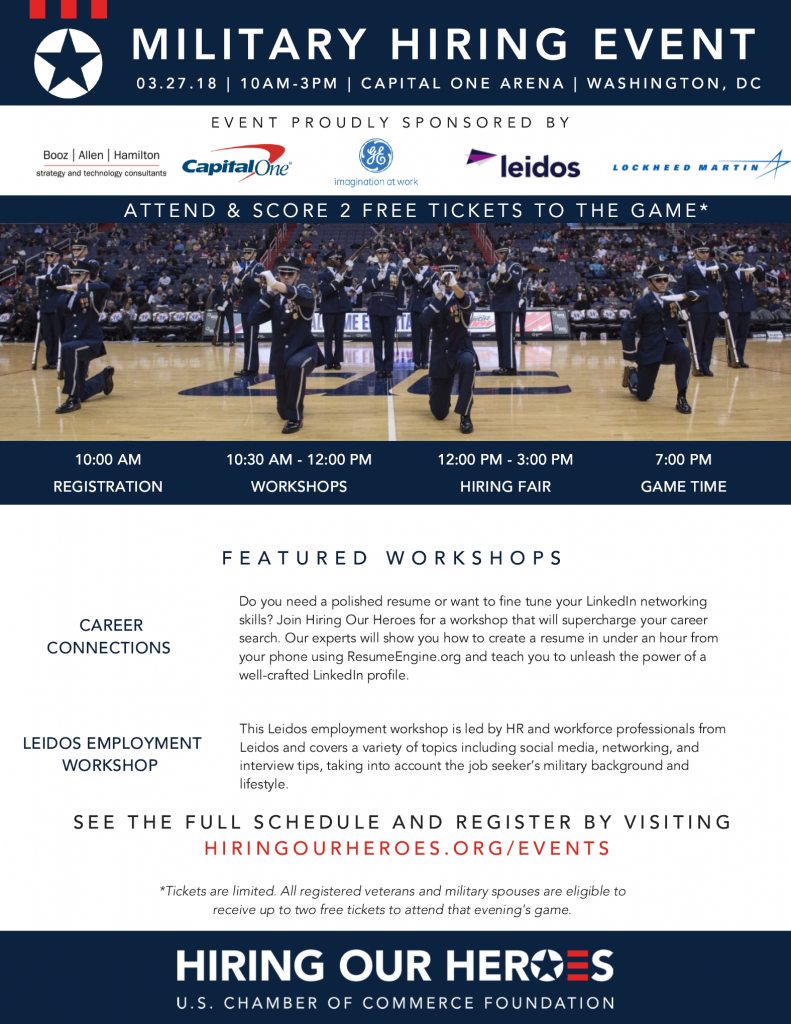 military hiring event