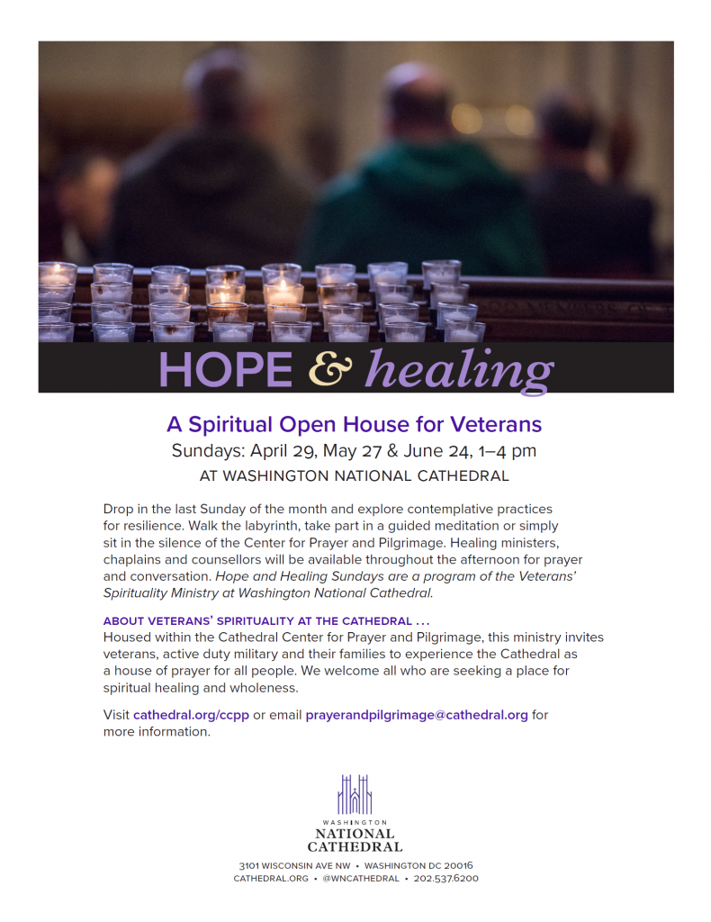 Hope and Healing - A spiritual open house for Veterans - :