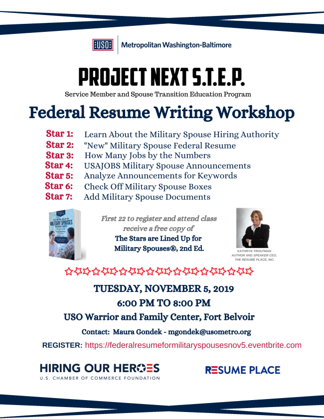 federal resume workshop for military spouses